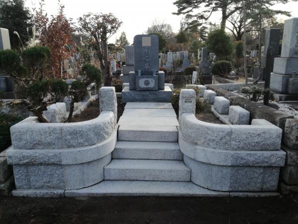 清掃後のお墓の様子(東京都立多磨霊園)