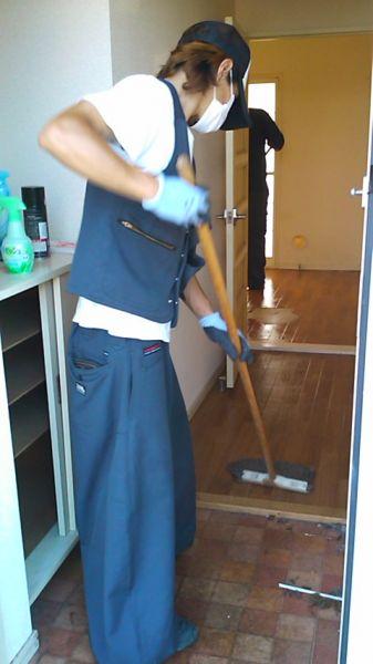 部屋片付けとお掃除